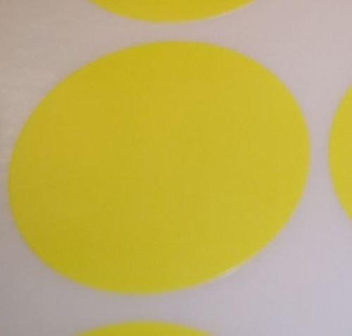 Pack Of 200 Grande 63mm Redondo / Círculos / Circular Código De Color Lunares En Blanco Precio Pegatinas Etiquetas - Elija Su Color/s - Amarillo, 63mm