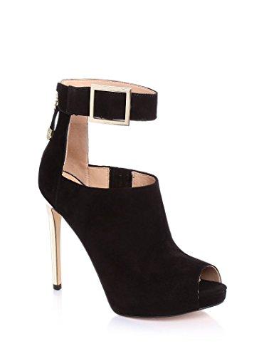 Scarpe Tronchetti Eleganti Donna Guess in pelle scamosciata Mod. SHILVY SUEDE ANKLE BOOT FL4SHISUE07 Col. Nero (35).
