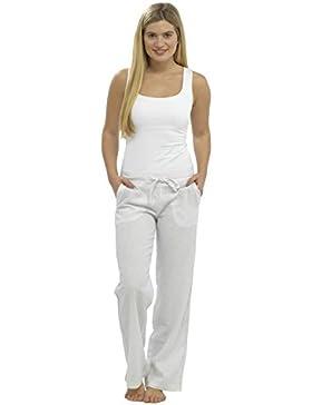 De Mujer Larga Pantalones De Lino