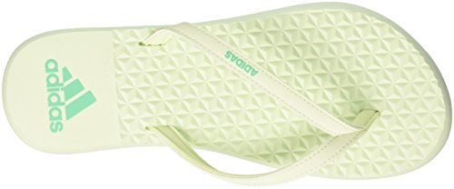 adidas Eezay Soft W, Chaussures de Plage et Piscine Femme Beige (Hi-res Green S18/aero Green S18)