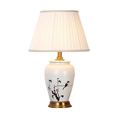Moolo Tischlampe, Klassische Kunst Hand bemalt Keramik Lampe Schlafzimmer Nachttisch Lesung Dekoration tischleuchte - Hand Bemalte Keramik Lampe