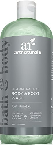 ArtNaturals Essential Bath and Body Wash - (12 Fl Oz/355ml) - Tea Tree, Peppermint and Eucalyptus Oil - Natural Eczema Soap for Antifungal Feet, Nail Fungus, Athletes Foot, Jock Itch and Odors