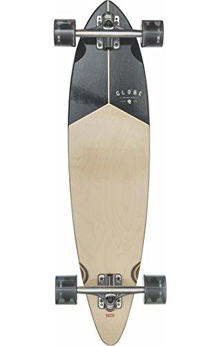 Globe Skateboard Pintail Longboard 34Complete Skateboard, Noce/Nero