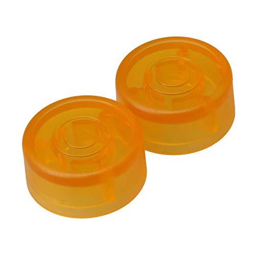 Mxfans Kunststoff Gitarrenverstärker Fußschalter Topper Knob Cap 2 Stück Orange