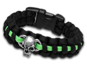 Other Paracord Wilson Tactical Black and Neon Green Metal Skull 9\