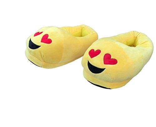 Deseo-Deluxe-QQ-emoticon-cartoon--Maletn-de-caca-Smile-Emoti-Invierno-Felpa-Zapatillas-de-Interior-Emoti-caca-zapatos-caca