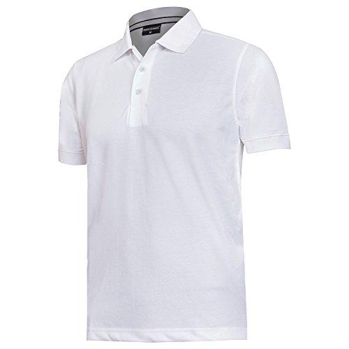 Weaverman Men's Polo Collar T-Shirt White - Medium
