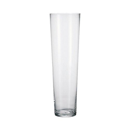 Leonardo - Vase, große Vase, Bodenvase - Konisch - 60 cm - Glas - mit dickem Eisboden