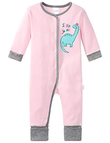 Schiesser Mädchen Baby Anzug mit Vario Fuß Zweiteiliger Schlafanzug, Rot (Rosa 503), 92 (Herstellergröße: 092)