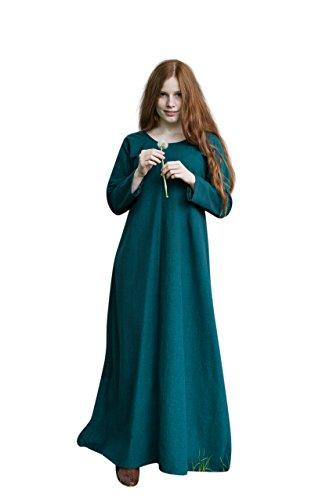 Mittelalter Unter Kleid Freya grün Kostüm Zubehör Baumwolle - (Ritter Kostüme Kleid)