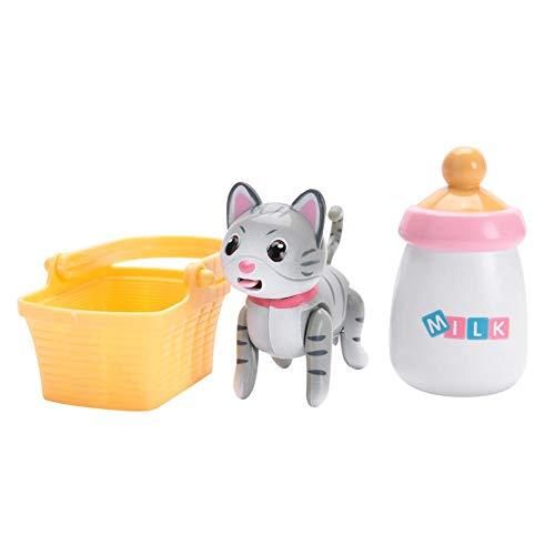 Zerodis Baby Haustier Saugen Milch Spielzeug Frühe pädagogische Fütterung Spielzeug mit Interaktiver Induktion Lustiger Kopf Sways Zungenbewegungen für Kleinkinder Geschenk(04) -