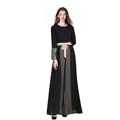 TEBAISE Muslim Kleidung 2019 Muslimische Kleider Damen Single Layer islamisch Robes Arabien Maxi Kleid Türkei Kirche Ethnische Kleidung Kaftan Abaya Frauen Verschleiß Ramadan Mit Manschetten Lace