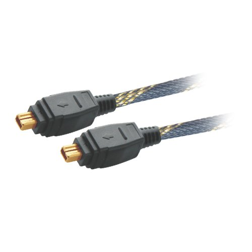 MX FIREWIRE IEEE 1394 CABLE 4 Pin MALE to 4 Pin MALE CORD - 1.5 Meters WITH NYLON MESH and GOLD PLATED - MX 3256  available at amazon for Rs.715