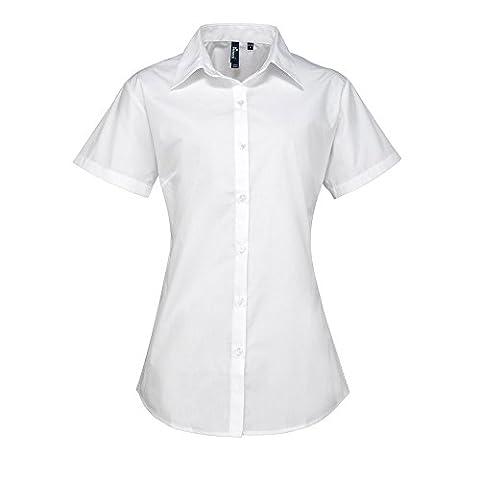 Premier Womens Supreme Poplin Short Sleeve Shirt