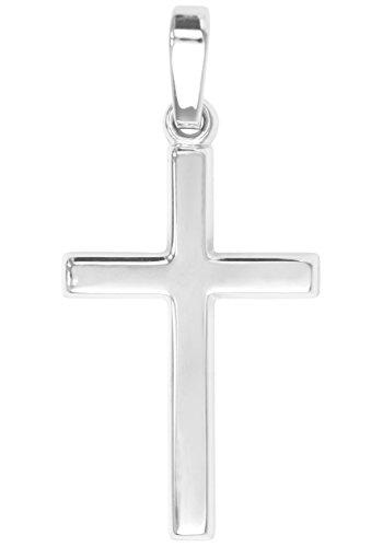 MyGold Kreuz Anhänger (Ohne Kette) Sterlingsilber 925 Silber Ohne Steine Glanz 25mm x 12mm Kreuzanhänger Kettenanhänger Silberkreuz Taufe Kommunion Geschenk Landour A-02220-S921