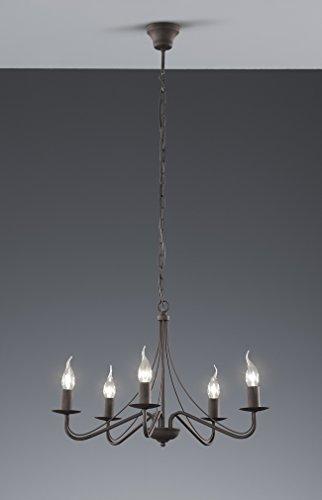KRONLEUCHTER 5 FLAMMIG NICKEL - 3
