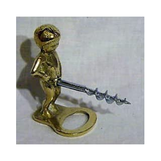 arterameferro Corkscrew in Brass Child Wine Cork Stoppers