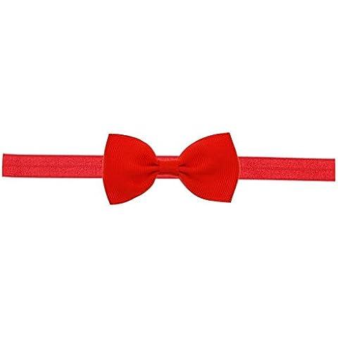Malloom® bimba Mini con fiocchi Fascia per capelli elastica Archetto