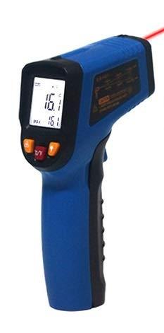 Infrarot Thermometer / Pyrometer, berührungslose Messung der Temperatur von-50 bis +380°C, blau -