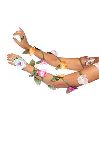 Das Kostüm Natur Mutter Halloween - shoperama Armschmuck mit Blumen und Blättern von Leg Avenue Damen Kostüm-Zubehör Bänder Mutter Natur