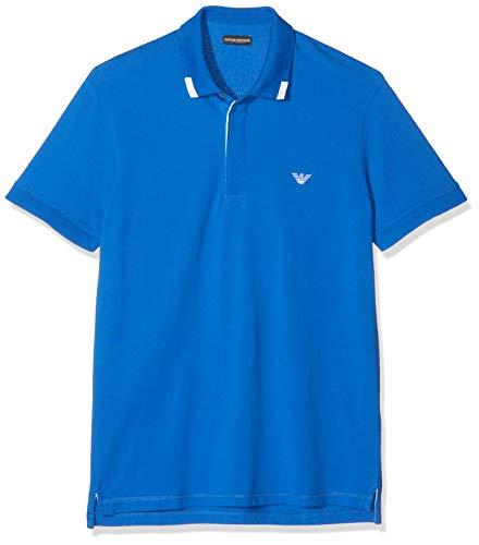Emporio Armani Underwear Herren Mens Knit Polo S/SLE Poloshirt, Blau (Blu Nautic 24333), X-Large (Herstellergröße: XL)