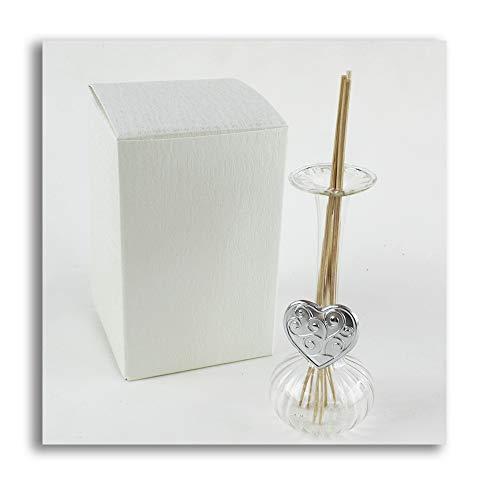 Dlm27750 diffusore profumatore con cuore albero della vita bottiglia in vetro soffiato bomboniera