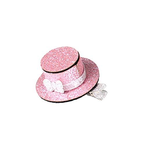 Carry stone Premium Qualität Kleine Hut Haarspange Haarspangen Prinzessin Haarnadel Pflege Für Hund Katze Kinder Rose Gold -