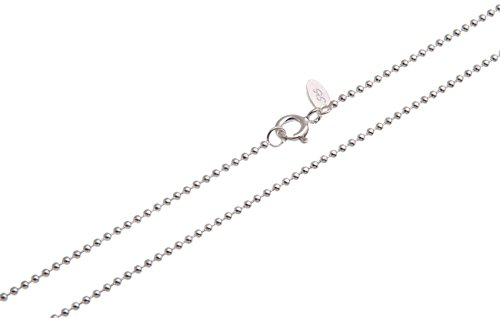 Kugelkette 1,5mm - echt 925 Silber, Länge wählbar 38-100cm