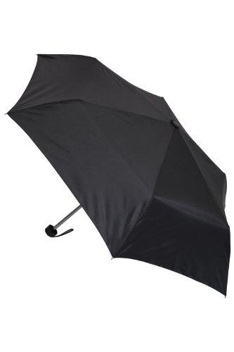 Mountain Warehouse Minischirm - Einfarbig, 105 cm (offen), extrem strapazierfähiger Allwetterschirm, leicht zu tragender Regenschirm - Ideal für Garten und Reisen Schwarz