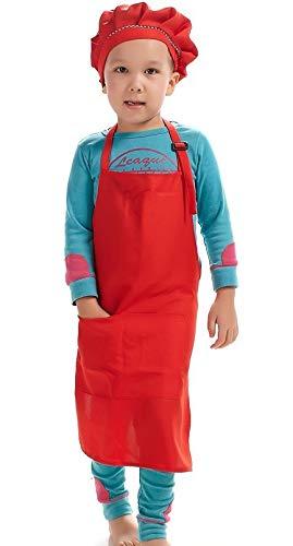 Los niños aclaran delantal cocina cocinan pintura