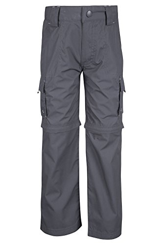 Mountain Warehouse Active Zip-off-Kinder Hose Active Camping Wandern Dunkelgrau 164 (13 Jahre) (Kinder-cargo-hose)