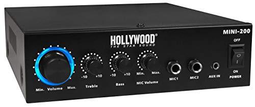 "HOLLYWOOD the Starsound - HiFi-Verstärker\""Mini-200\""   mit Bluetooth   230V oder 12V   100W   HiFi Endstufe"