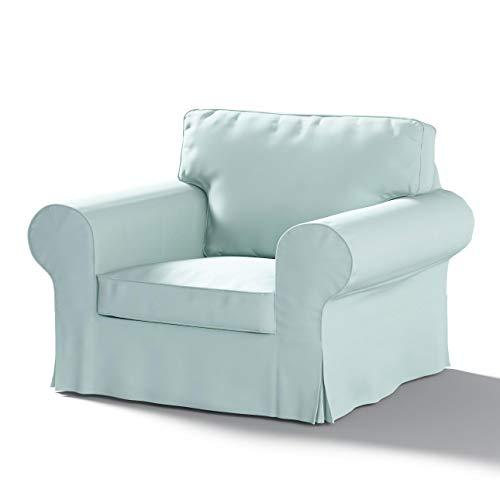 Dekoria Ektorp Sesselbezug Sofahusse passend für IKEA Modell Ektorp hellblau