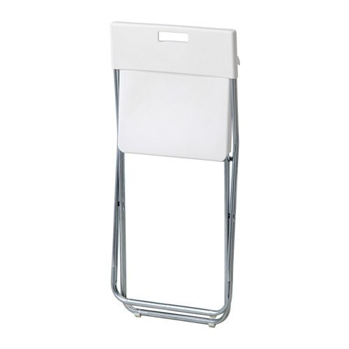 ikea gunde folding chair white k hagbergm hagberg amazoncouk kitchen u0026 home