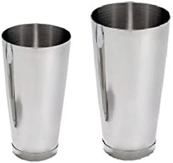 Saanvi Creations 2 Piece/Set Stainless Steel Cocktail Shaker: 15 oz & 26 oz