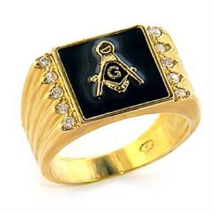 Gold Princess Herren-ring Cut White (YourJewelleryBox Herren Zirkonia Ring 8X030 Gr. 65 (20.7))