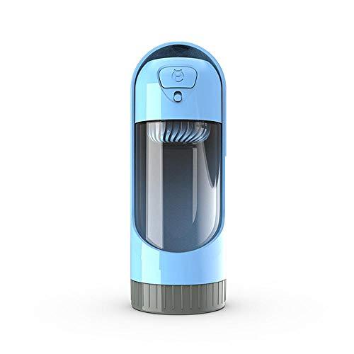 Dumcuw Portable Travel Dog Wasserflasche, Teleskopverstellbares Haustier Zum Aufhängen Von Wasser-Cup, Wasserflasche Im Freien Mit Aktivkohlefilter Leakproof Für Wandern und Reisen Camping Azure-cup