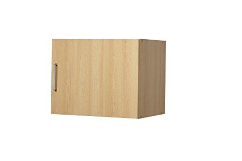 """Aufsatz-/Hängeschrank """"Valerie"""", Buche Dekor, 1 Tür, 50 x 40 x 39 cm, Funktionsschrank, Aufbewahrungsschrank"""