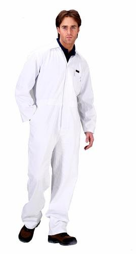 Click Cotton Drill Boilersuit White - 38