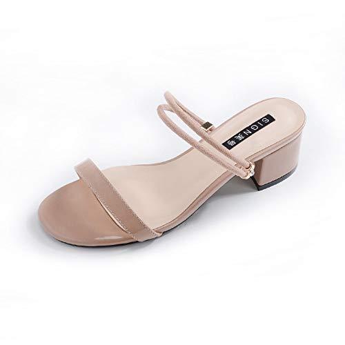 Sandalias De Mujer Use Ambas Sandalias De Punta Redonda Con Punta Abierta Simple Calzado De Mujer Marea...