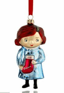 Macy's Yes Virginia 2012 Glass Christmas Ornament with Believe Stocking by Macy's