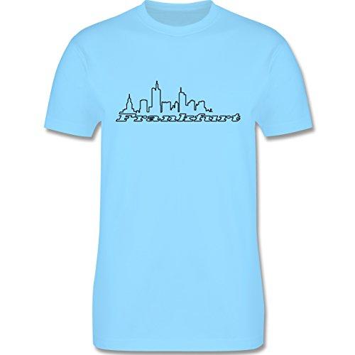 Skyline - Frankfurt Skyline - Herren Premium T-Shirt Hellblau