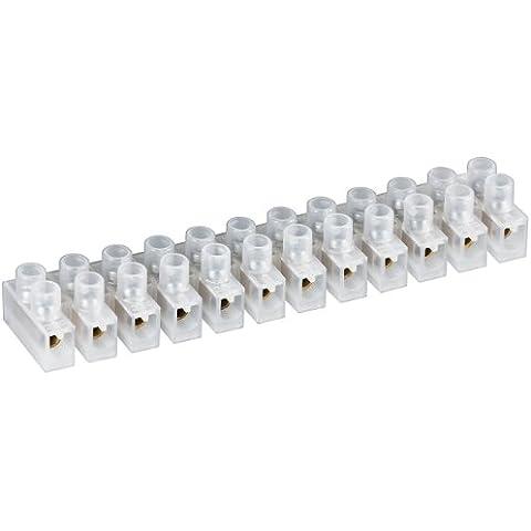 Wentronic - Clema (12 conexiones, 4 mm, 3A), color blanco