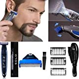 Effigy Onlinehub Micro Touch Solo Rechargeable Full Body Cordless Beard Smart Trimmer Shaver Razor (Multicolour)