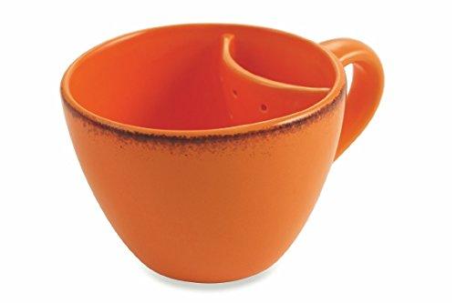 Villa d'Este Home Tivoli Baita Mug avec filtre, Dolomite, Orange