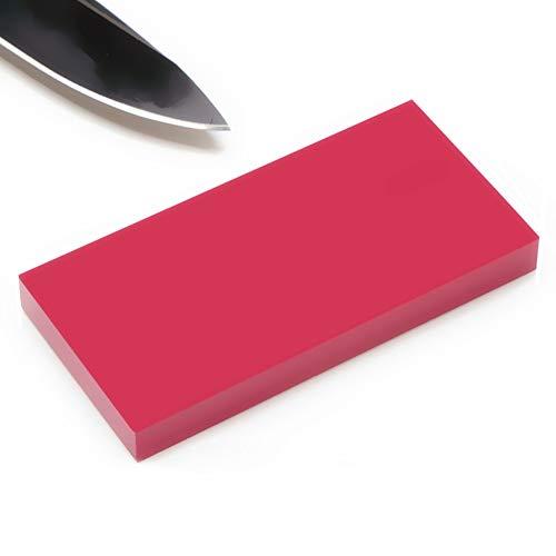 Denret3rgu 3000Grit Präzise Schleifmesser Spitzer Schleifstein Ölstein Politur Schleifstein für Küchenmesser, Taktische Messer, Scheren, Rasierer, Schwerter - Rot -