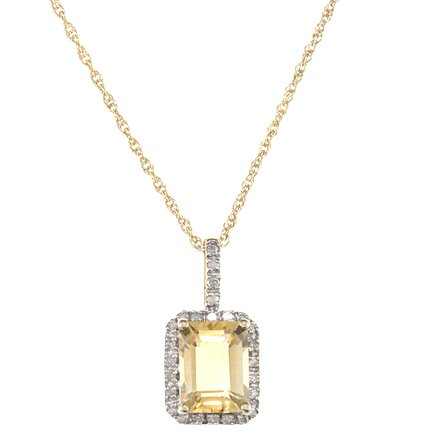 10k-yellow-gold-220ct-emerald-cut-citrine-and-diamond-pendant-necklace