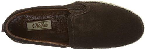 Buffalo Herren 3260 Suede Slipper Braun (Brown 01)