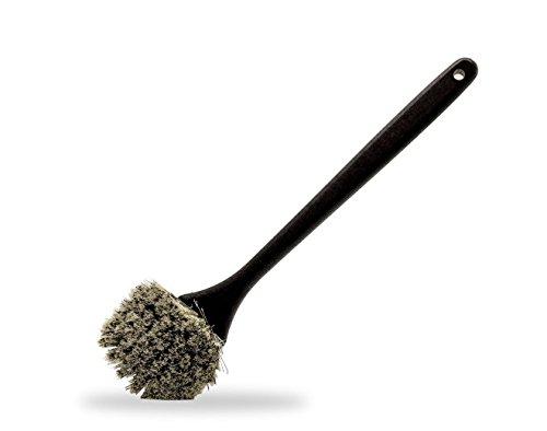 Brosse de nettoyage manche long, poils durs, pour pneus et passages de roues