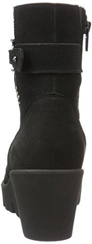 Waldläufer Hiki, Bottes courtes avec doublure chaude femme Noir - Noir